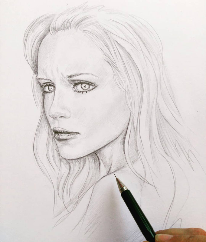 Zeichnungen - Galerie - Beispiele - Zeichnen