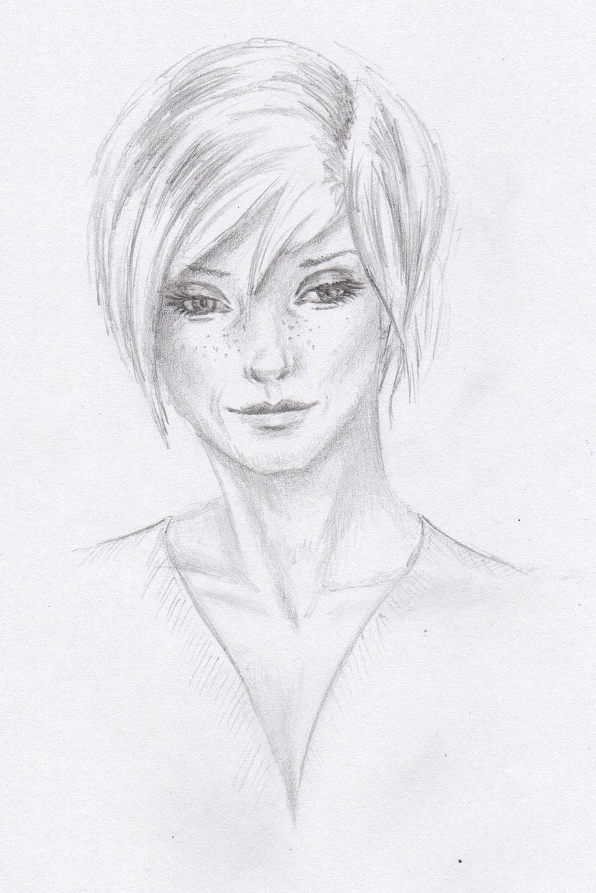 zeichnungen - galerie - portrait - frauen