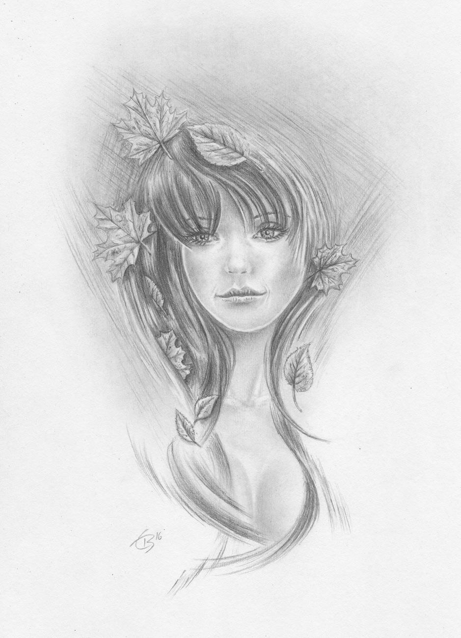 Zeichnen Lernen M 228 Dchen Mit Laub Im Haar