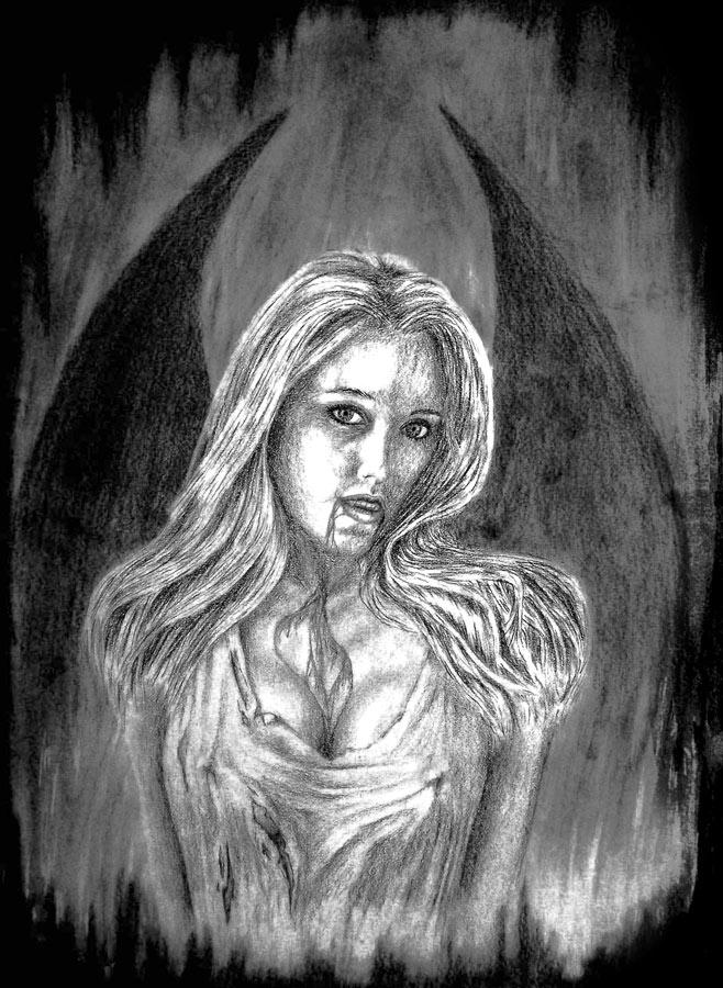 Zeichnungen - Galerie - Fantasy- Frauen