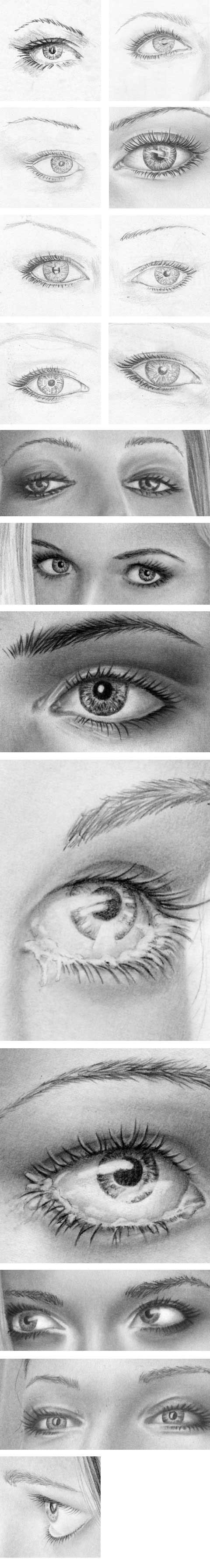 Strahlende Augen, Pupille, Iris zeichnen lernen - Zeichenkurs