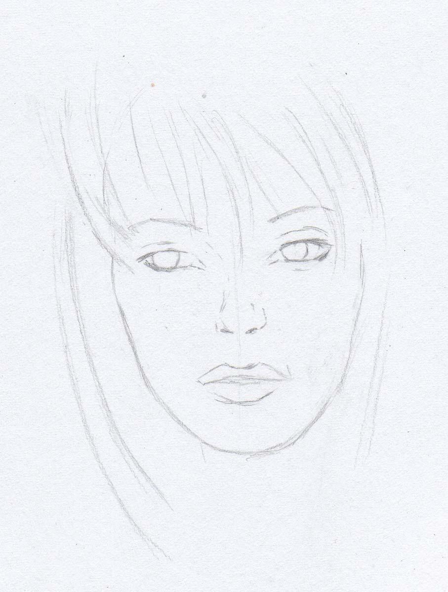 Zeichnen Lernen Madchen Mit Laub Im Haar