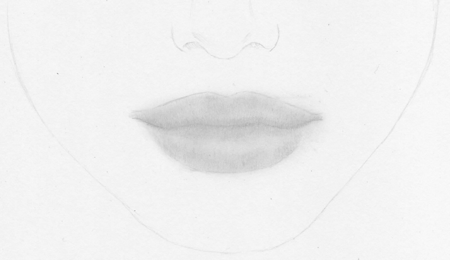 Realistische Lippen Und Weiblichen Mund Zeichnen Lernen