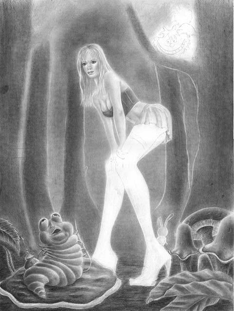 Zeichenkurs Frau Mit Minirock Im Marchenwald Zeichnen