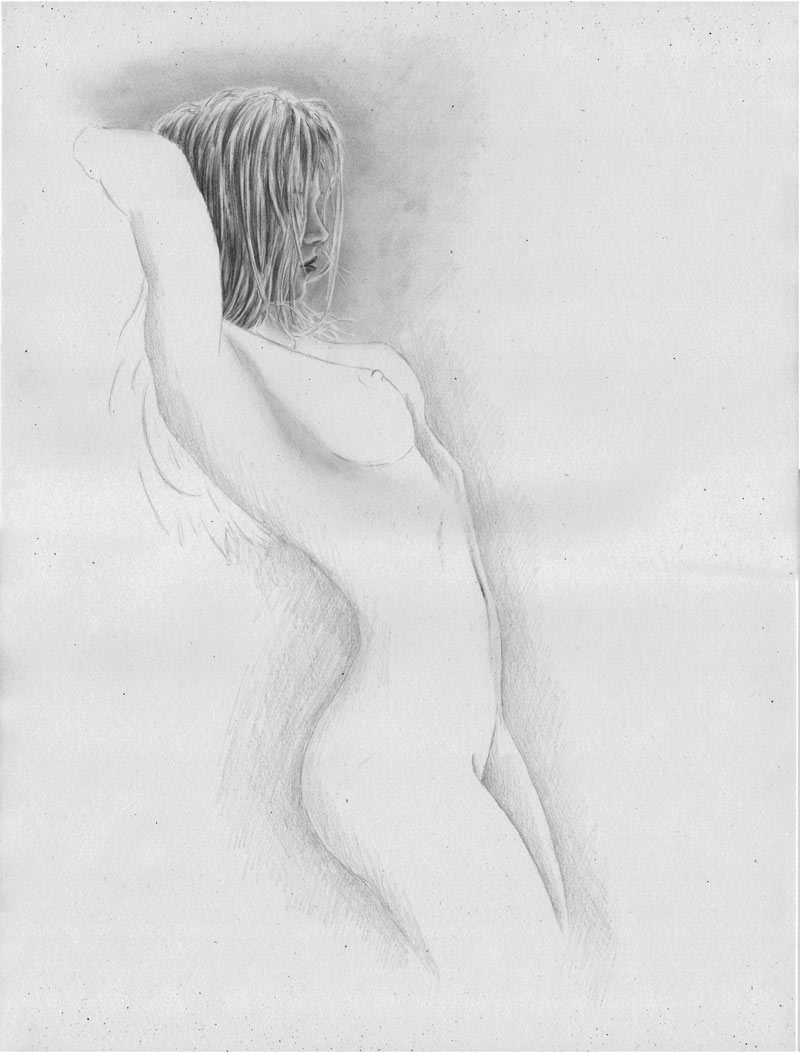 Frau nackt zeichnung